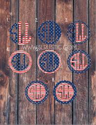 American Flag Monogram Decal 4th Of July Decal Usa Monogram Car Dec Slrustic