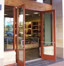 double exterior commercial glass doors