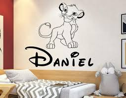 Wall Decal The Lion King Cartoon Wall Sticker Simba Wall Decal Etsy