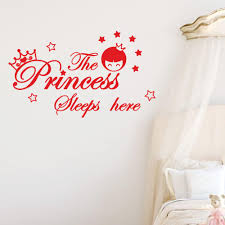 The Princess Sleeps Here Wall Decals Children S Room Home Decoration Art Sticker Buy At A Low Prices On Joom E Commerce Platform
