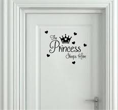 Princess Sleeps Here Baby Girls Room Wall Stickers For Kids Rooms Door Sticker Home Decor Wall Decal Wall Stickers Aliexpress