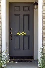 Amazon Com Js Artworks Hello Home Front Door Vinyl Decal Sticker Yellow Furniture Decor