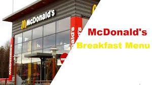 mcdonald s breakfast menu with calories