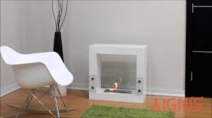 freestanding ethanol fireplace by ignis