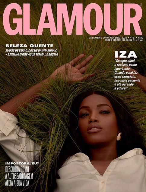 """Resultado de imagem para Iza brilha na sua primeira capa para a Glamour: """"Estou vivendo um momento íntimo de libertação"""""""""""