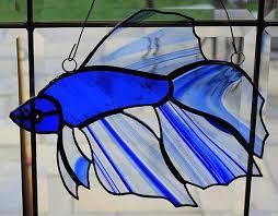 stained glass beta fish sun catcher
