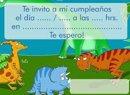 Invitacion Para Cumpleanos Dinosaurios Invitaciones De