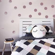 Rose Gold Polka Dots Wall Stickers Circle Wall Decals For Kids Room Home Decor Diy Stickers For Baby Nursery Room Decoration Pvc Wall Stickers Aliexpress