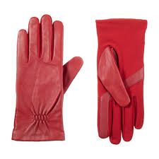 stretch leather touchscreen gloves