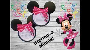 Invitacion Minnie Mouse Plantillas Gratis Youtube