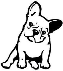 Amazon Com Okdeals White Black French Bulldog Dog Pet Vinyl Decal Car Window Wall Sticker Laptop Decal Black Home Improvement