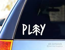 Play Outdoors Car Window Decal Vinyl Decal Outdoor Etsy Car Decals Vinyl Car Decals Adventure Car