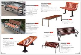 outdoor furniture bench metal frame