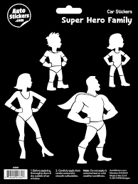Super Hero Family Family Decals Family Stickers Family Car Stickers