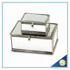 jewerly trinket box brass glass