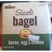 wawa sizzli bacon egg cheese bagel