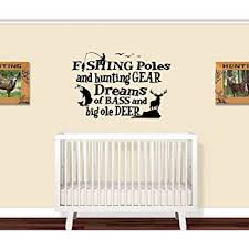Amazon Com Fishing Poles And Hunting Gear Little Boys Room 1 Wall Decal 20 X 30 Everything Else
