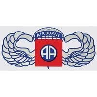 Army 82nd Airborne Division Jump Wings Military Window Decal Star Spangled 1776