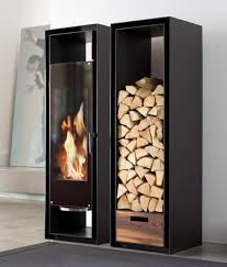 rotating wood burning fireplace from