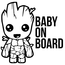 Svg Car Decal Cut File Baby Groot Baby On Board Etsy