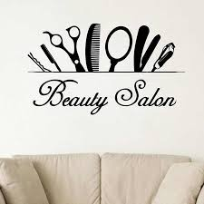 Beauty Salon Wall Decal Hairdressing Hair Salon Window Decor Barbershop Vinyl Sticker Barber Sign Art Design Interior Decor X231 Wall Stickers Aliexpress