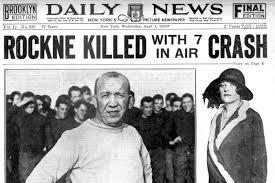 Knute Rockne's TWA airplane crashes - The football legend among the 8  killed (1931) - Click Americana