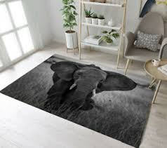 Wildlife Safari Animals Elephant Area Rugs Bedroom Carpet Living Room Floor Mat Ebay
