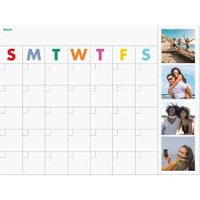 Dry Erase Photo Calendar Wall Decal Pinhole Press