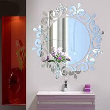 Self Adhesive Fashion Acrylic Crystal Lighting Stickers Home Decal Wallpaper Mirror Wall Sticker Bedroom Corridor Geek