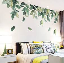 Fresh Green Medium Leaf Vinyl Wall Sticker Wall Decal Art Etsy Bedroom Wall Designs Decorate Your Room Bedroom Wall Paint