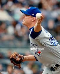 Pitcher Aaron Loup of the Toronto Blue Jays pitches in relief in ...