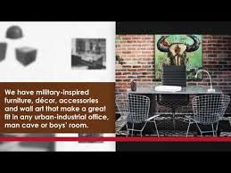 military inspired room décor and