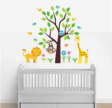Amazon Com Wall Decals Nursery Peel And Stick Safari Animal Wall Decals Kids Room Stickers Baby Room Decor Baby Shower Gift Baby Room Furniture Decals Kids Stuff Baby
