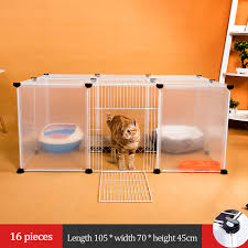 Diy Pet Playpen Iron Fence Collapsible Puppy Kennel House Exercise Security Gate Dogs Supplies Cat Crate Rabbits Guinea Pig Cage Cages Aliexpress