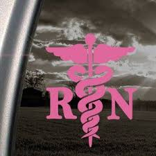 Amazon Com Caduceus Registered Nurse Rn Pink Decal Window Pink Sticker Themed Classroom Displays And Deco Nurse Gifts Registered Nurse Rn Reflective Decals