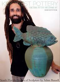 Artwork By Adam Russell   Contemporary pottery, Fish sculpture, West art