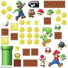 New Super Mario Build A Scene Nintendo Wall Decals Kids Game Room Stickers Decor 34878598697 Ebay