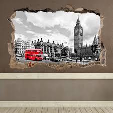 Wall Decal Hole Big Ben London Muraldecal Com