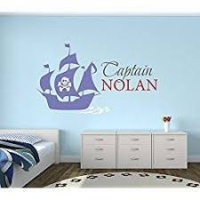 Custom Pirate Boat Name Wall Decal Pirate Boy Room Decor Nursery Wall Decals Captain Pirate Vinyl Stic Nursery Wall Decals Boys Room Decor Pirate Nursery