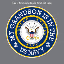 My Grandson Is In The Us Navy Military Bumper Sticker Vinyl Window Decal