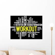 Workout Word Cloud Fitness Health Concept Wall Decal Wallmonkeys Com