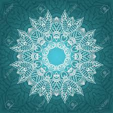 Tarjeta Mandala En Colores Turquesa Para Los Fondos Invitaciones
