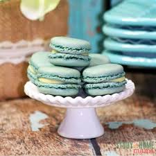 frozen party food blueberry macarons