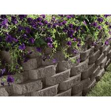 dark gray concrete garden wall block
