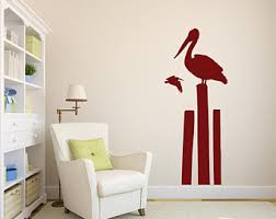 Pelican Wall Decal Etsy