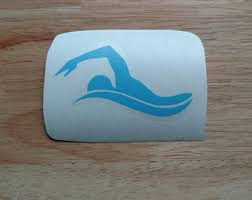 Swimming Decal Etsy