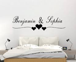 Custom Name Wall Sticker Lovers For Bedroom Living Room Decor Wall Decals Mural Ebay