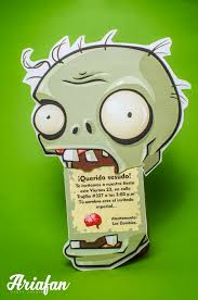 Invitaciones Originales Para Un Cumpleanos De Plants Vs Zombies