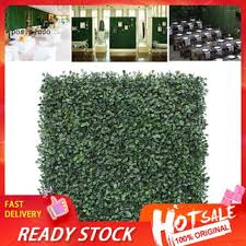 Ready Stock Artificial Leaf Grass Fence Evergreen Screen Hedge Panels Emulated Plant Wall Shopee Philippines