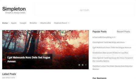 MyThemeShop Simpleton WordPress Theme